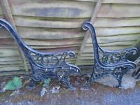 Cast Iron bench ends with Lion faces