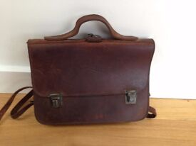 Leather satchel for child