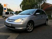Honda civic 1.6 petrol manual with mot service history low miles one lady owner from new