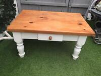 Solid pine painted coffee table