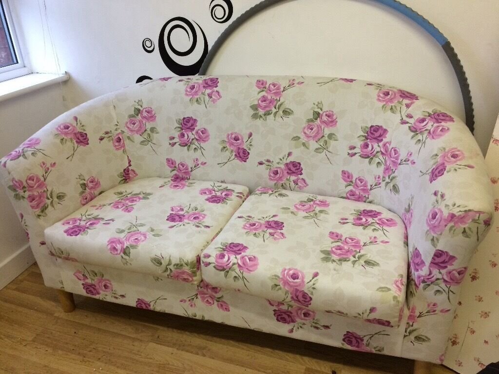 Small Shabby Chic Two Seater Sofa Suit Conservatory Or Studio