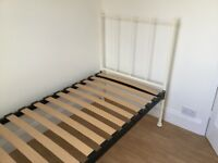 Single Metal Framed Bed