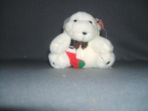 Coca Cola Christmas Ornament 1995 Plush Bear Red Stocking & Coke Bottle