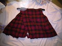 KILT (red)-- in perfect condition! **CHARITY SALE**