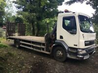 Daf beavertail 55.180 14 tonne lorry with hiab