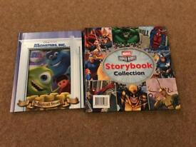 Monsters Inc and Marvel Superhero Collection books