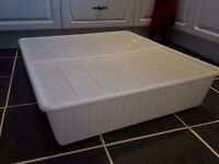 2 IKEA underbed storage boxes (solid plastic) with lids. In good used condition.