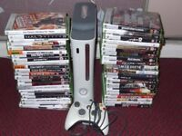 X BOX 360 GAMES CONSOLE WITH 44 GAMES