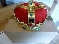 KING OR QUEENS CROWN IDEAL FOR SCHOOL NATIVITY