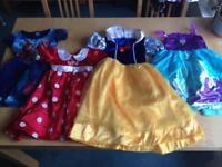 Halloween Disney princess dresses age 3-4 yr