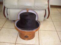Vintage Top Hat c/w hat box