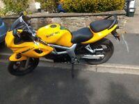 Suzuki SV650 SY Yellow 2000 model with bikini fairing 645cc sports bike good condition