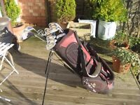DUNLOP OVERSIZE GOLF CLUBS IN BAG WITH STAND