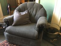 Grey retro armchair