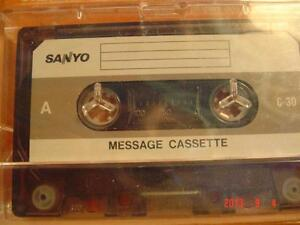 60- MIN. SANYO TELEPHONE ANSWERING MACHINE INCOMING MESSAGE TAPE Windsor Region Ontario image 1