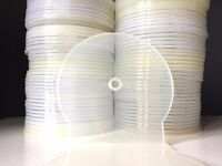 80 DVD, Blu-ray or CD C-shell / Clam shell type Clear plastic