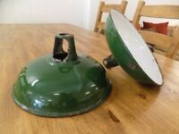 Old Vintage Coolicon Green Metal Industrial Lamp Shades *7 Remaining*