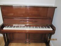 Moore & Moore (London) O/S Upright Piano and Stool
