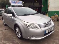 2011 TOYOTA AVENSIS TR DIESEL AUTOMATIC 66800 GENUINE MILES WITH PCO LICENCE FINANC £182 X 48 MONTHS