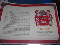 Family Coats of Arms & Family Surname meanings Certificate