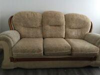 2 Three Seater Sofas.