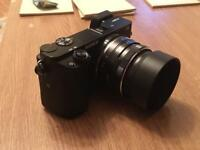 35mm f1.7 prime lens with hood for Sony e mount