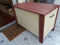 Solid wooden chest painted with Annie Sloan paint.