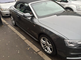 AUDI A5 CONVERTIBLE 1.8 TFSI S LINE 2013 LED FACELIFT HPI CLEAR MANUAL 6 SPEED QUICK SALE