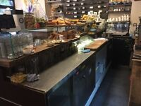 Cafe/Deli three part Refrigerated Counter