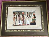 Framed Picture of an Ancient Egyptian scene.