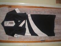 mother of bride/groom berketex suit balck/ivory plus facinater and bag