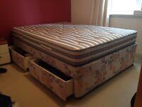 Double Divan Bed- Excellent Quality