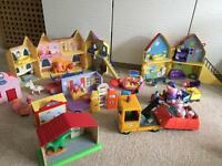 Large collection peppa pig toys