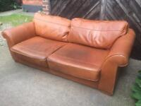 Leather sofa (delivery available)
