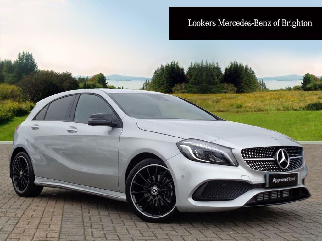 mercedes benz a class a 200 d amg line premium silver. Black Bedroom Furniture Sets. Home Design Ideas