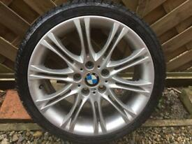BMW MV2 Replica Alloy - Good condition and very good tyre