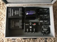 DI Direct Boxes Bundle (Art, Rolls, Millennium, Monacor) with Aluminium Carry Case