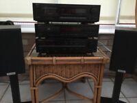 Denon Sterio, Receiver DRA-325R, CD player DCD-860, Cassette Deck DRM-500. Excellent working order