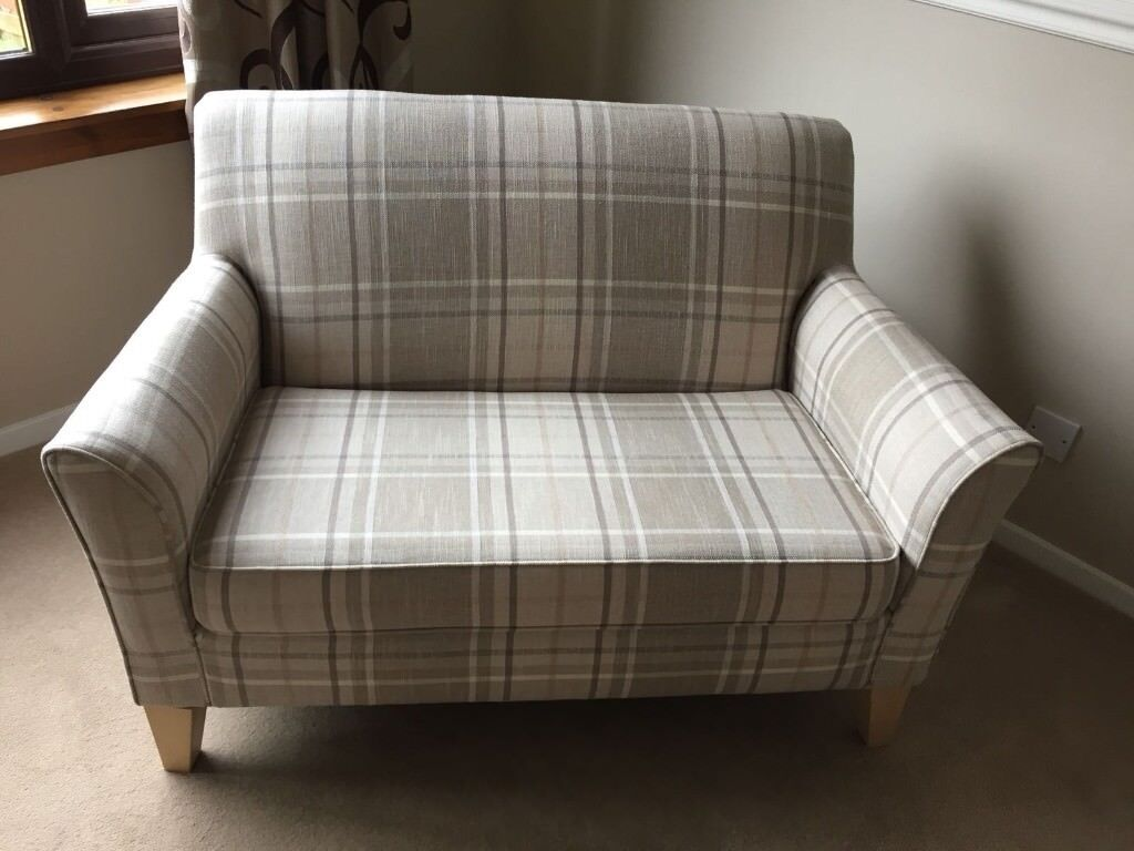 2 Seater Sofa From Next Checked Pattern