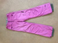 Ladies Ski Trousers - Protest Geotech 4.0 - Pink size UK 10-12 (med reg fit)