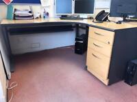 2 Corner executive desks with matching drawers