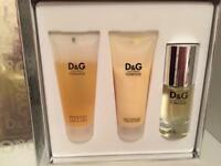 Dolce and Gabbana Feminine perfume set RARE
