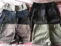 8 Shorts from Jane Norman and River Island