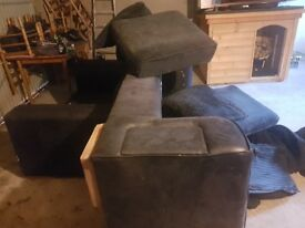 Sofas for sale . A 3 seater and 2 seater sofa for sale . Need repaired as small rips