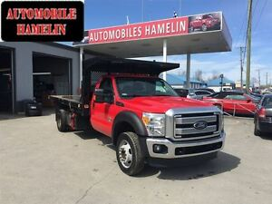 2013 Ford F-550 XLT 4X4 CUIR PLATE FORME DOMPEUSE