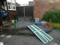 Foldable wheelchair ramps