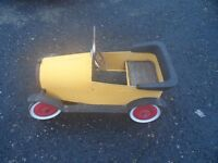 Pedal car made of tin metal vintage classic antique