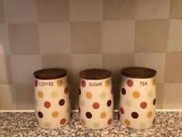 Beautiful Contemporary Poky Dots Canister Set