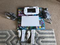 Wii u, 2 controllers and 6 games