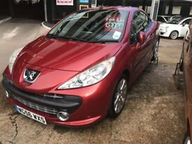 2007 Peugeot 207 Gt Turbo Convertible with 12 months MOT